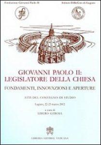 Copertina di 'Giovanni Paolo II legislatore della Chiesa'