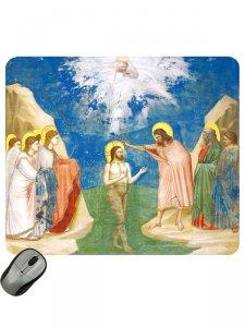 """Copertina di 'Mousepad """"Battesimo di Gesù"""" - dimensioni 19,7x23,5 cm'"""