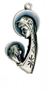 Copertina di 'Medaglia Madonna con il Bambino - 4 cm'