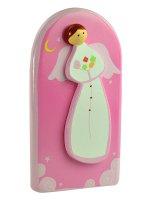 """Icona """"Angelo con fiori"""" rosa per bambini - dimensioni 9x13 cm"""