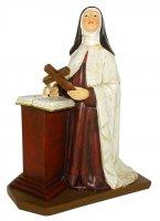 Statua di Santa Teresa d'Avila da 20 cm in confezione regalo con segnalibro in IT/IN/SP/FR