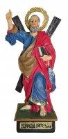 Statua di Sant'Andrea da 12 cm in confezione regalo con segnalibro in IT/EN/ES/FR