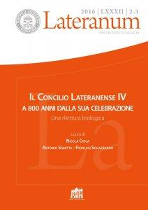 Copertina di 'Lateranum n. 2-3/2016'