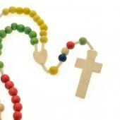Rosario missionario con crociera a forma di cuore