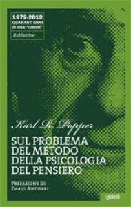 Copertina di 'Sul problema del metodo della psicologia del pensiero'