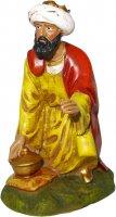 Statua del re magio Gaspare in resina - cm 16