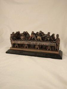 Copertina di 'Ultima cena statua in resina bronzata'