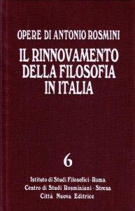 Copertina di 'Il rinnovamento della filosofia in Italia.  Vol. 6'