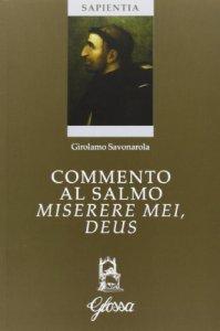 Copertina di 'Commento al salmo Miserere mei, Deus'