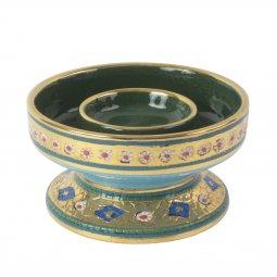 Copertina di 'Portacero in ceramica cm 15 x 8 - Modello Bizantino'