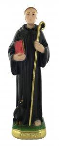 Copertina di 'Statua San Benedetto in gesso dipinta a mano - circa 15 cm'