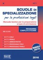 Scuole di Specializzazione per le professioni legali - Manuale - Redazioni Edizioni Simone