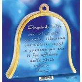 """Immagine di 'Icona in legno a campana """"Angelo custode"""" - dimensioni 10x11 cm'"""