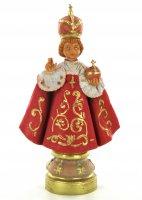 Statua Gesù Bambino di Praga dipinta a mano cm 12