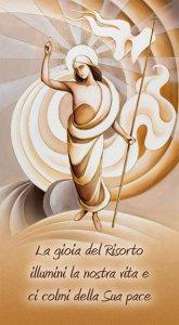 """Copertina di 'Benedizione della Famiglia """"Cristo risorto"""" - altezza 22 cm (10 pezzi)'"""