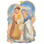 """Icona sagomata """"Preghiera per la famiglia"""" per bambini - dimensioni 11x16 cm"""