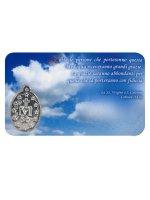 Immagine di 'Card medaglia Madonna di Medjugore (10 pezzi)'