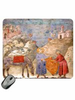 "Mousepad ""San Francesco dona il mantello a un povero"" - Giotto"
