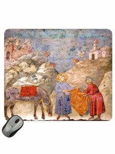 """Copertina di 'Mousepad """"San Francesco dona il mantello a un povero""""'"""