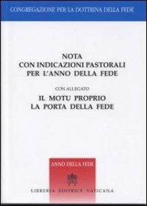 Copertina di 'Nota con indicazioni pastorali per l'anno della fede'