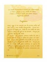 Immagine di 'Bomboniera Comunione bambino/bambina: croce Eucaristia con preghiera in italiano'
