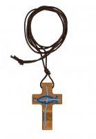 Immagine di 'Libretto di preghiere con croce in legno e cristogramma dipinto'