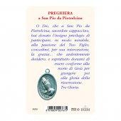 """Immagine di 'Card """"Padre Pio"""" con preghiera e medaglia - (10 pezzi)'"""