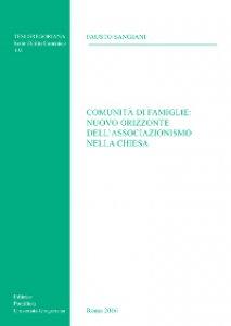 Copertina di 'Comunità di famiglie: nuovo orizzonte dell'associazionismo nella Chiesa.'