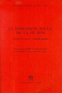 Copertina di 'La dimension social de la fe hoy'