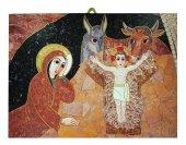 Quadro stampa Natività di Gesù Padre Rupnik cm 5,3 x 7,2