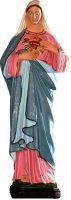 Statua Sacro Cuore di Maria in materiale infrangibile dipinta a mano - cm 20 di  su LibreriadelSanto.it