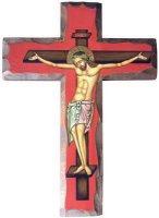Croce con base rossa
