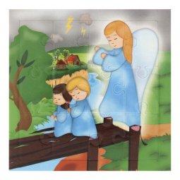 """Copertina di 'Mini puzzle """"Angelo custode"""" per bambini - 12 pezzi'"""
