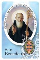 Card San Benedetto della guarigione in PVC - 5,5 x 8,5 cm - italiano