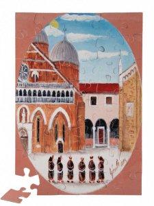 """Copertina di 'Puzzle """"Frati alla Basilica del Santo"""" (48 pezzi)'"""