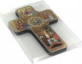 Immagine di 'Croce icona Trinità stampa su legno - 12 x 18 cm'