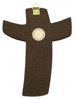 """Immagine di 'Croce Padre Rupnik: croce stampa """"tra cielo e terra"""" 8x10,3 cm (Snagov)'"""