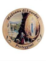 Adesivo Madonna di Lourdes (10 pezzi) di  su LibreriadelSanto.it