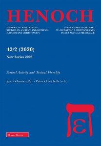 Copertina di 'Henoch. 2/2020 (vol. 42): Scribal Activity and Textual Plurality'