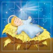 """Mini puzzle """"Gesù Bambino"""" (12 pezzi)"""