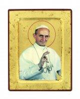 Icona S. Paolo VI, produzione greca su legno - 18 x 14 cm