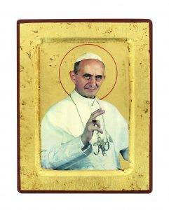 Copertina di 'Icona S. Paolo VI, produzione greca su legno - 18 x 14 cm'
