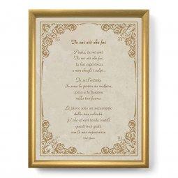 """Copertina di 'Quadro con preghiera """"Tu sai ciò che fai"""" su cornice dorata - dimensioni 44x34 cm'"""