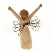 """Immagine di 'Statuetta in resina """"Angelo a braccia aperte"""" - altezza 15 cm'"""