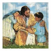 """Mini puzzle """"Gesù con i bambini"""" - 12 pezzi"""
