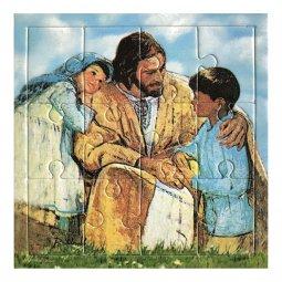 """Copertina di 'Mini puzzle """"Gesù con i bambini"""" - 12 pezzi'"""