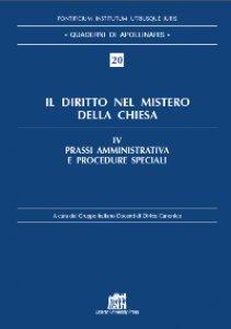 Copertina di 'Il diritto nel mistero della Chiesa vol. IV'