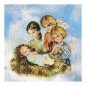 """Mini puzzle """"Angeli in adorazione di Gesù Bambino"""" - 12 pezzi"""