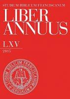 Liber Annuus LXV-2015.