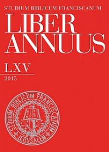 Copertina di 'Liber Annuus LXV-2015.'